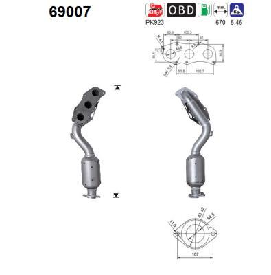 Catalyseur AS 69007 (X1)