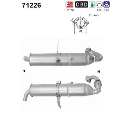 Catalyseur AS 71226 (X1)