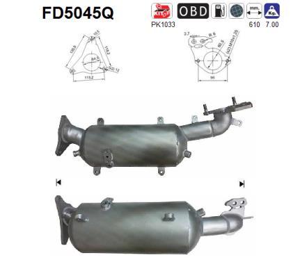 Filtre a particules - FAP AS FD5045Q (X1)