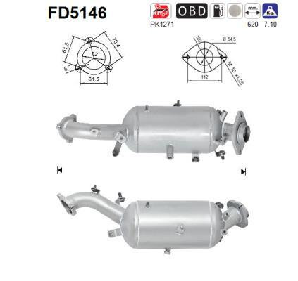 Filtre a particules - FAP AS FD5146 (X1)