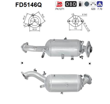 Filtre a particules - FAP AS FD5146Q (X1)