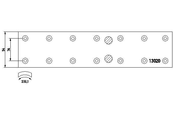 Kit de garnitures de frein (machoires)pour frein à tambour DON MB88892S7121 (X1)