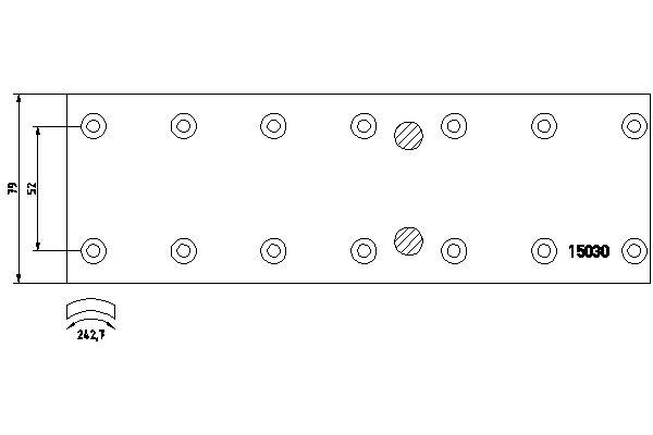 Kit de garnitures de frein (machoires)pour frein à tambour DON MB80812S7121 (X1)