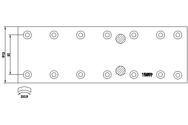 Kit de garnitures de frein (machoires)pour frein à tambour DON MB1071082S7121 (X1)