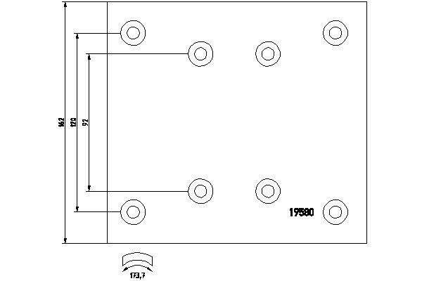 Kit de garnitures de frein (machoires)pour frein à tambour DON MB72731S7115 (X1)