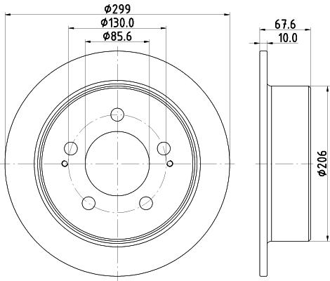 Disque de frein arriere DON PCD14542 (Jeu de 2)