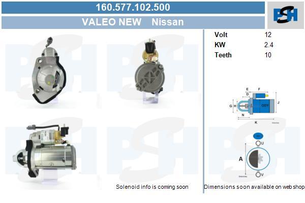Demarreur BV PSH 160.577.102.500 (X1)