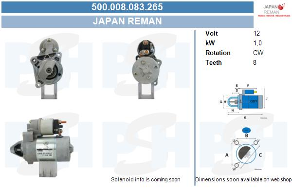 Demarreur BV PSH 500.008.083.265 (X1)