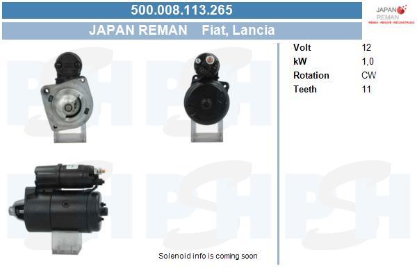 Demarreur BV PSH 500.008.113.265 (X1)