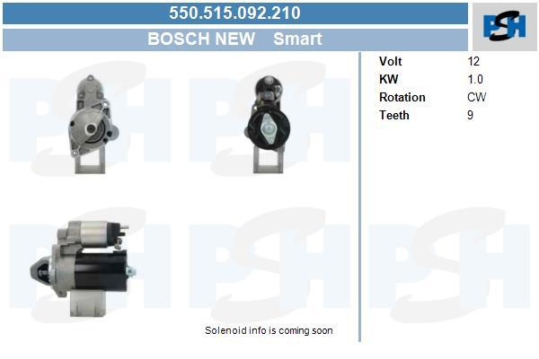 Demarreur BV PSH 550.515.092.210 (X1)