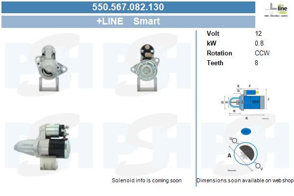 Demarreur BV PSH 550.567.082.130 (X1)