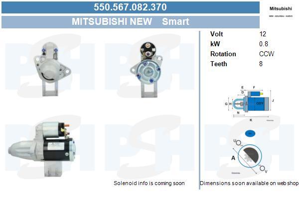 Demarreur BV PSH 550.567.082.370 (X1)