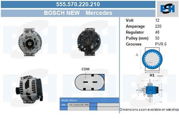 Demarreur BV PSH 550.567.082.410 (X1)