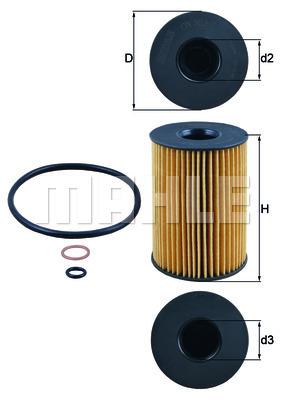 Filtre a huile MAHLE OX 353/7D (X1)