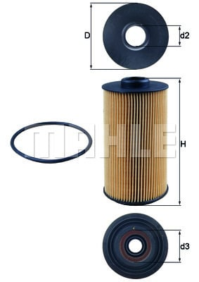 Filtre a huile MAHLE OX 152/1D (X1)