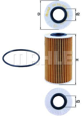 Filtre a huile MAHLE OX 554D1 (X1)