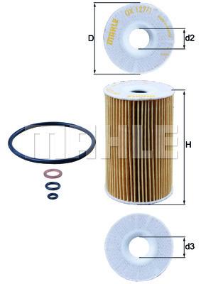 Filtre a huile MAHLE OX 127/1D (X1)