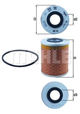 Filtre a huile MAHLE OX 15D (X1)