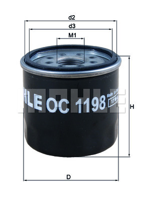 Filtre a huile MAHLE OC 1198 (X1)