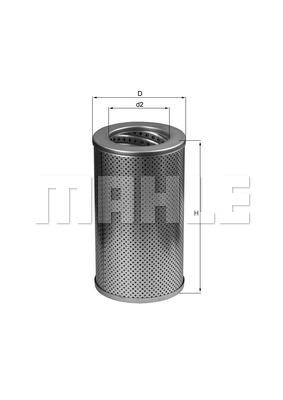Filtre a huile de boite de vitesse MAHLE HX 79 (X1)