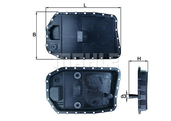 Accessoires de boite de vitesse MAHLE HX 154 (X1)