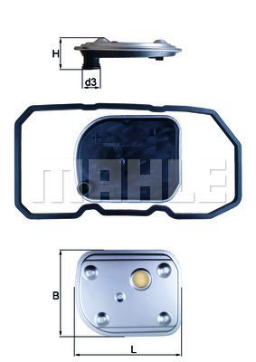 Filtre a huile de boite de vitesse MAHLE HX 158D (X1)