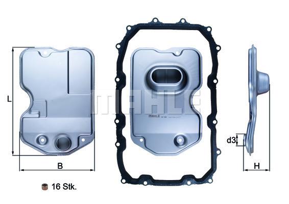 Filtre a huile de boite de vitesse MAHLE HX 160KIT (X1)