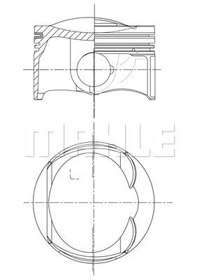 Piston moteur MAHLE 028 PI 00132 002 (X1)