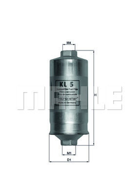 Filtre a carburant MAHLE KL 5 (X1)
