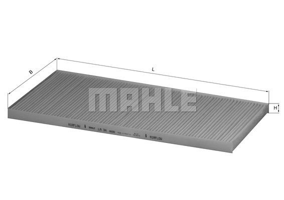 Filtre d'habitacle MAHLE LA 34 (X1)