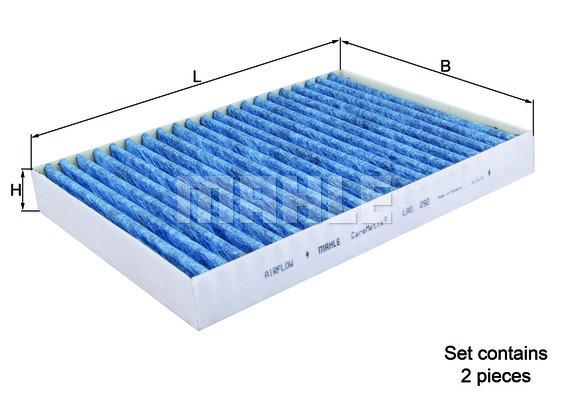 Filtre d'habitacle MAHLE LAO 292/S (X1)
