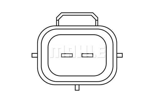 Capteur, température du compartiment moteur MAHLE MST 2 (X1)