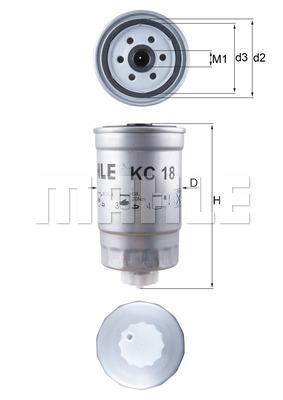Filtre a carburant MAHLE KC 18 (X1)