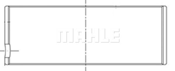 Coussinet de bielle MAHLE 151 PL 18396 000 (X1)