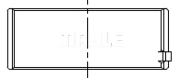 Coussinets de vilebrequin MAHLE 061 HL 19078 025 (X1)