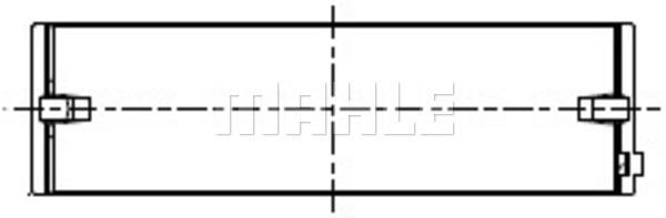 Coussinets de vilebrequin MAHLE 227 HL 21666 025 (X1)
