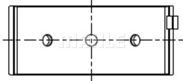Coussinets de vilebrequin MAHLE 007 HL 20572 200 (X1)