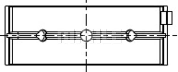 Coussinets de vilebrequin MAHLE 007 HL 20571 200 (X1)
