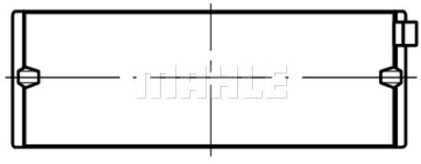 Coussinets de vilebrequin MAHLE 029 HL 18066 075 (X1)