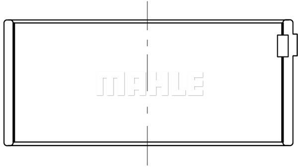 Coussinet de bielle MAHLE 039 PL 10064 100 (X1)