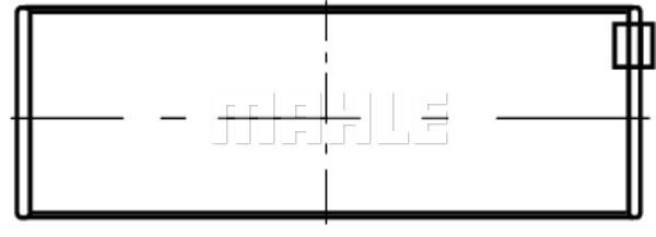 Coussinets de vilebrequin MAHLE 001 HL 20044 050 (X1)
