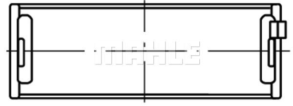 Coussinets de vilebrequin MAHLE 001 HL 10213 050 (X1)