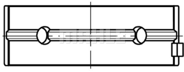 Coussinets de vilebrequin MAHLE 001 HL 19810 000 (X1)