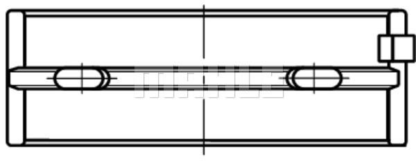 Coussinets de vilebrequin MAHLE 001 HL 19790 025 (X1)