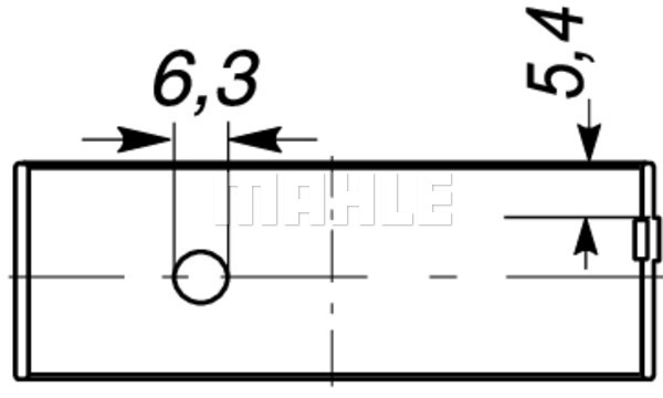 Coussinet de bielle MAHLE 037 PL 18717 200 (X1)