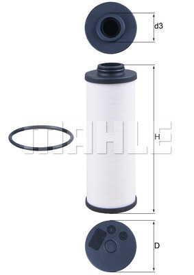 Filtre a huile de boite de vitesse MAHLE HX 186D (X1)