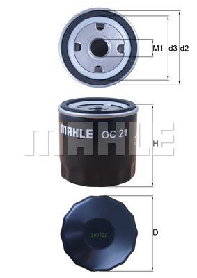 Filtre a huile MAHLE OC 21 (X1)