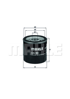 Filtre a huile MAHLE OC 90 OF (X1)