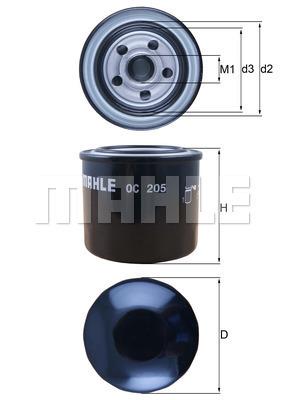 Filtre a huile MAHLE OC 205 (X1)