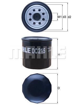 Filtre a huile MAHLE OC 215 (X1)
